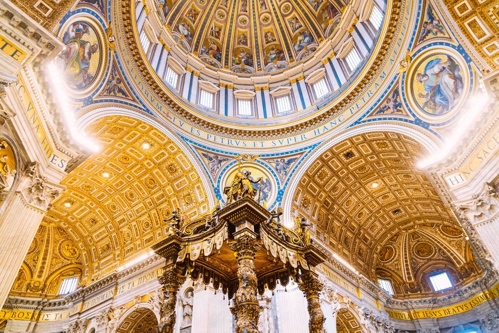 The ceiling of St. Peter's Basilica