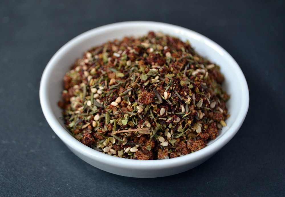 Za'atar is a traditional savory spice blend.
