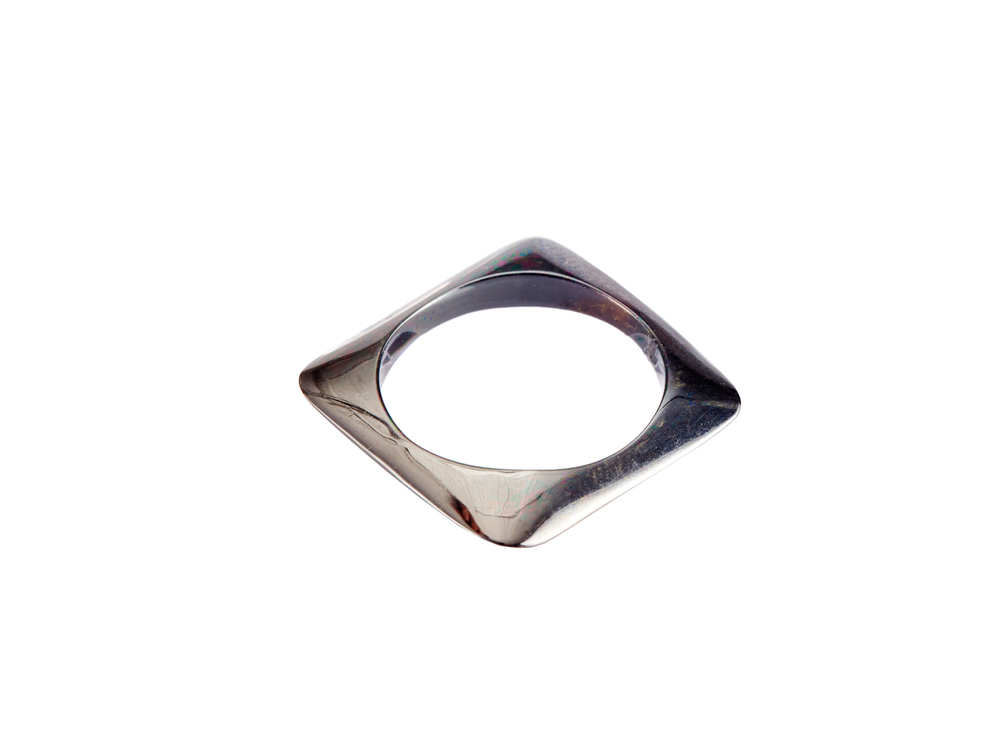 SILVER RHODIUM STACKING RING