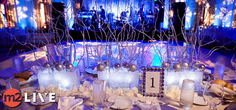 Shimmering Snowflakes Christmas Party Designs