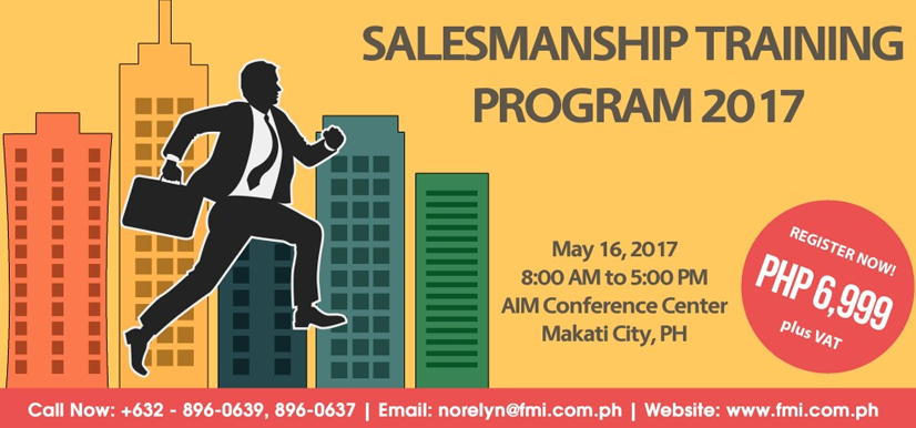 Salesmanship Training Program 2017