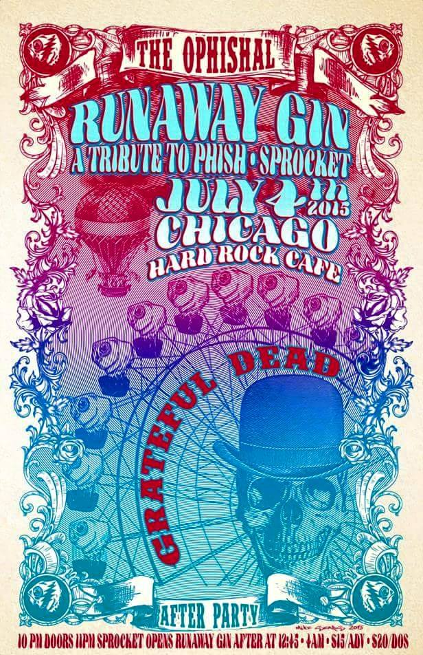 Here's the poster for our #GD50 Afterparty designed by Mike Sears