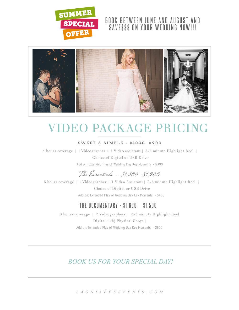 Lagniappe Video Pricing Guide