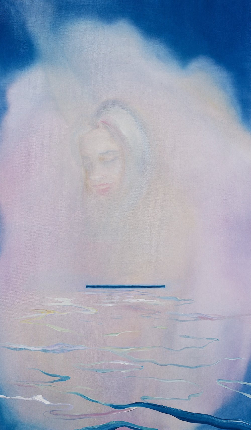 "Millie, of the sea   2018  oil on canvas  38"" x 22""  © Mikaela McLeish 2018"