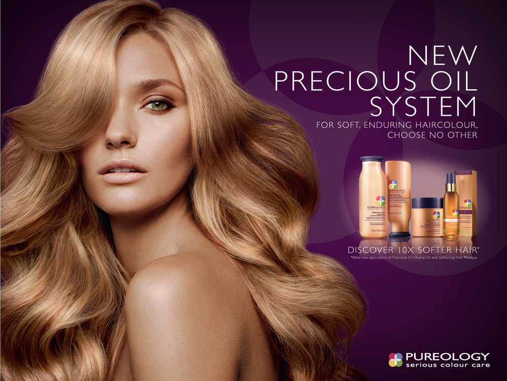 Pureology work: Creative Director: Tyler Ochs, Lead Designer: Megan Yanchitis, Photographer: Ben Hassett
