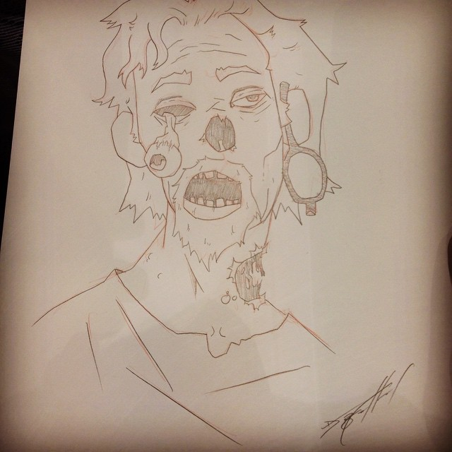 Con Sketches - Zombie Portrait
