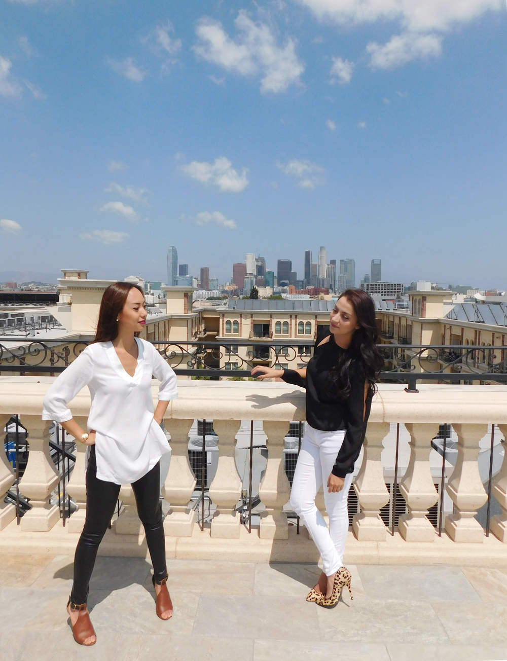 "Elissa: ""Its a great day in LA to be a supergirl..."" Cristina: ""Totally!"" 👯"