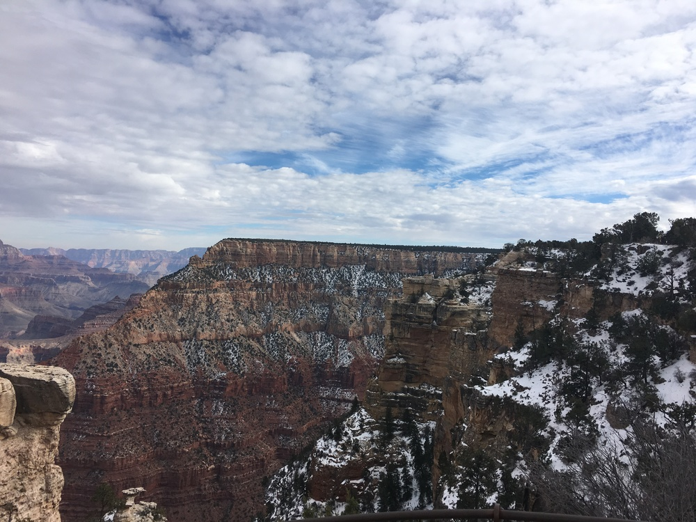 It was pretty chilly so definitely needed to bundle up a bit while walking around the South Rim.