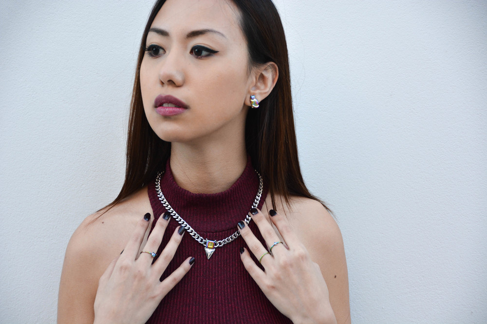 Giving my look some edge with my VantJag jewelry! Details at the bottom.