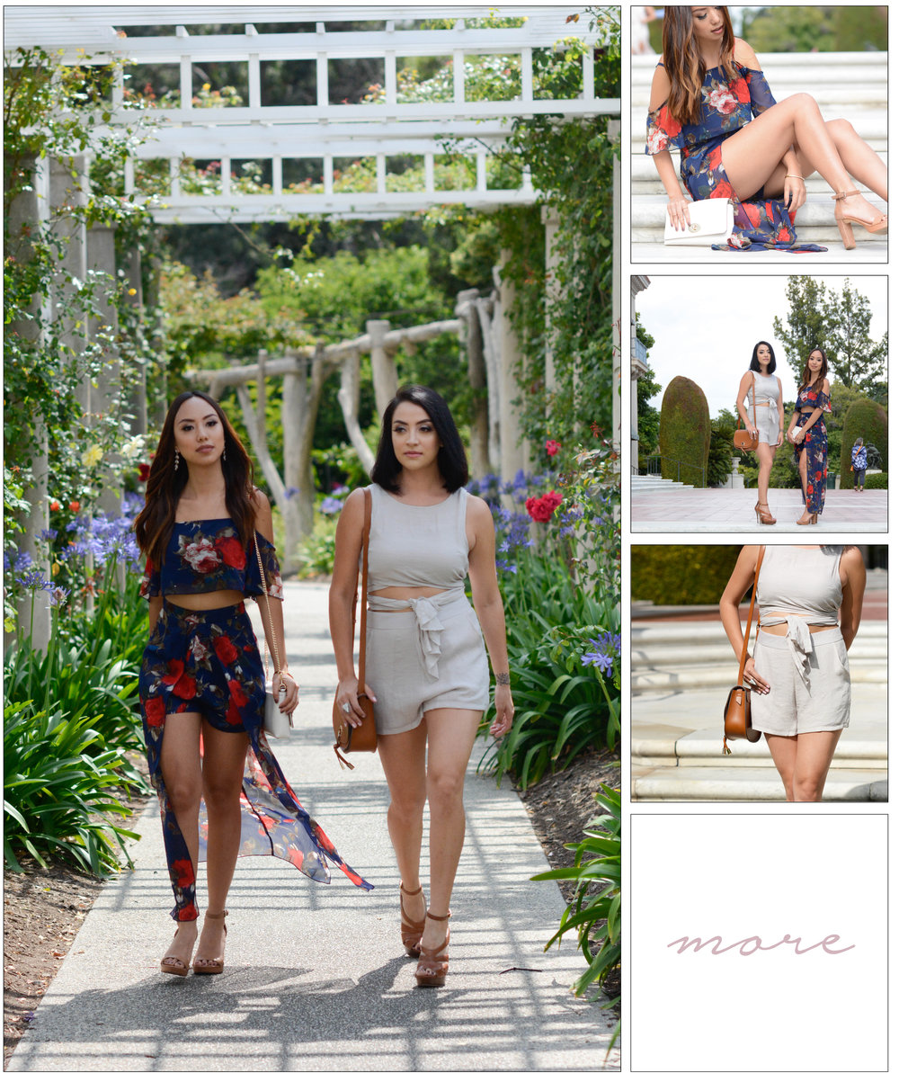 Since the beginning of the year matching sets have been a thing. Whether they are shorts, pants or skirts - this style is everywhere and everyone is feeling it. We felt like dressing up a bit to create cute looks that would be perfect for a brunch, or tea time with the girls! Click on the image for full details.