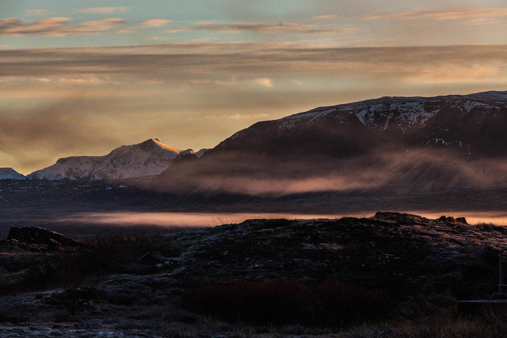 Mountain  sunrise, Iceland