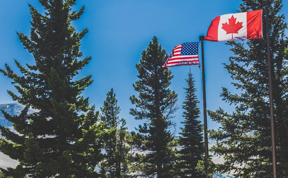 Canada-US border - Alberta