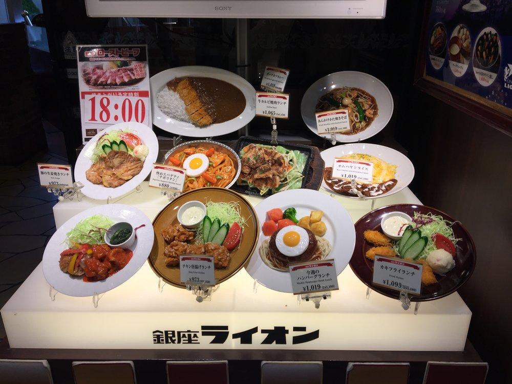 Food display in Shibuya