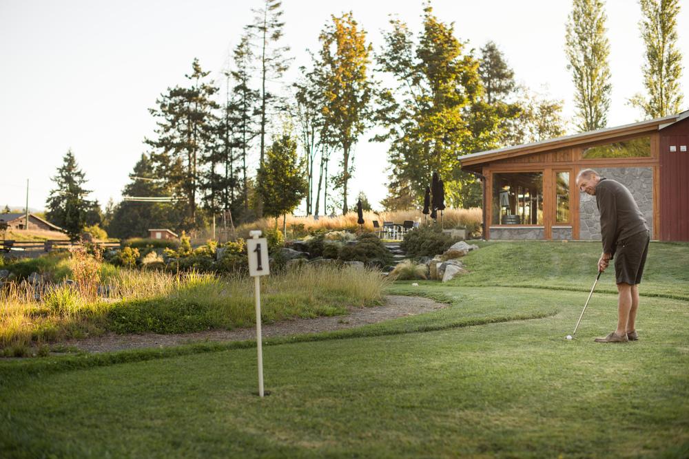 Golf Putting Green at Unsworth Vineyards