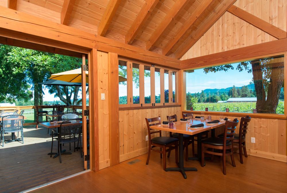 Restaurant patio at Unsworth Vineyards