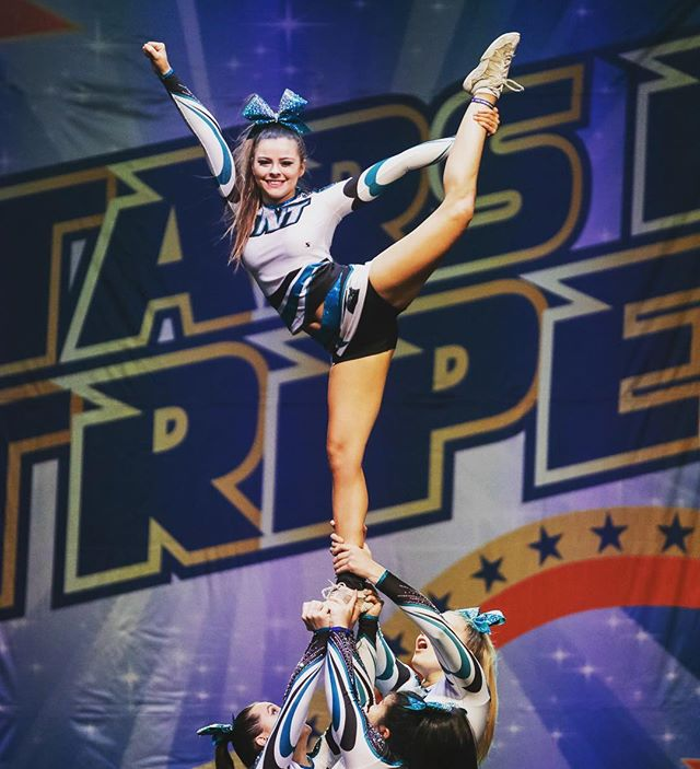 Boom! #cuastars #cheer #stunt #groupstunt #cheerleader