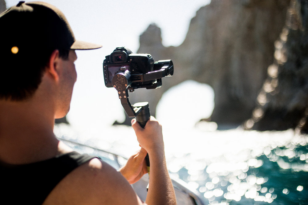 Filming the Arch in Cabo San Lucas. Photo by: Y.O. Photography
