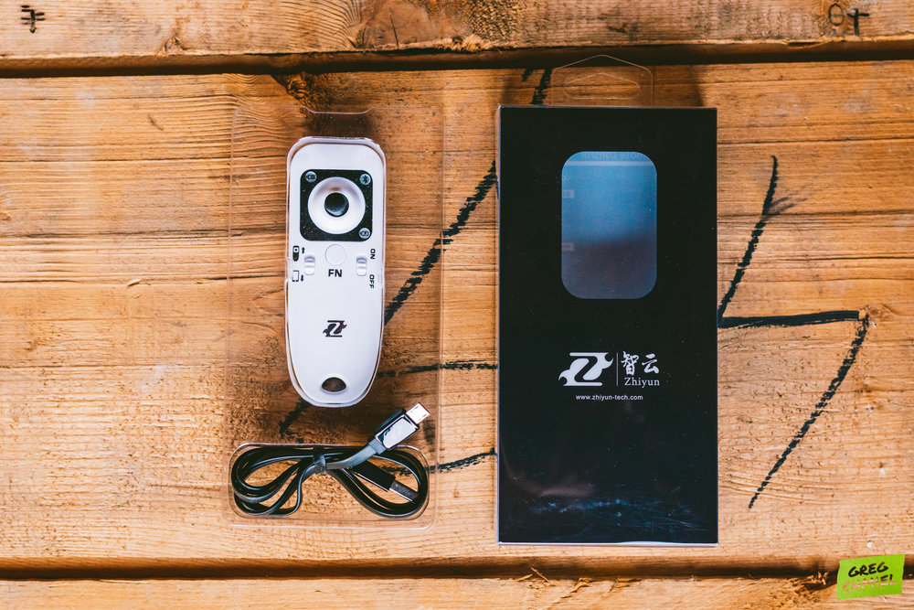 Zhiyun Crane Bluetooth Remote (included in certain bundles)