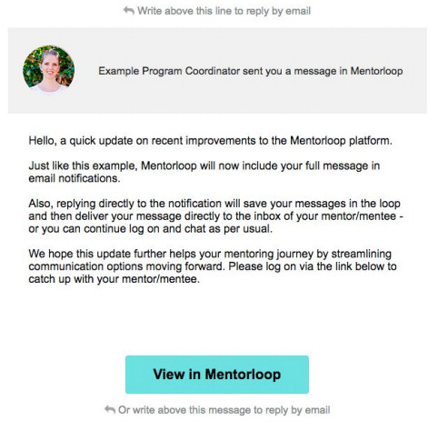 An example email