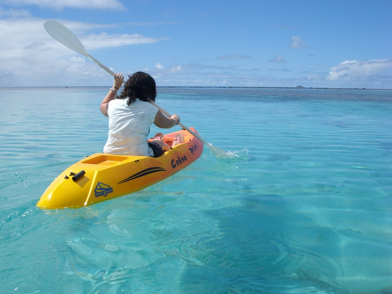 Safe, fabulous kayaking on crystal, clear reefs