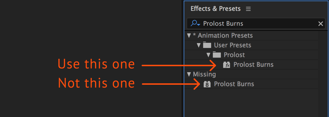 I Applied An After Effects Preset But It Doesnt Do Anything