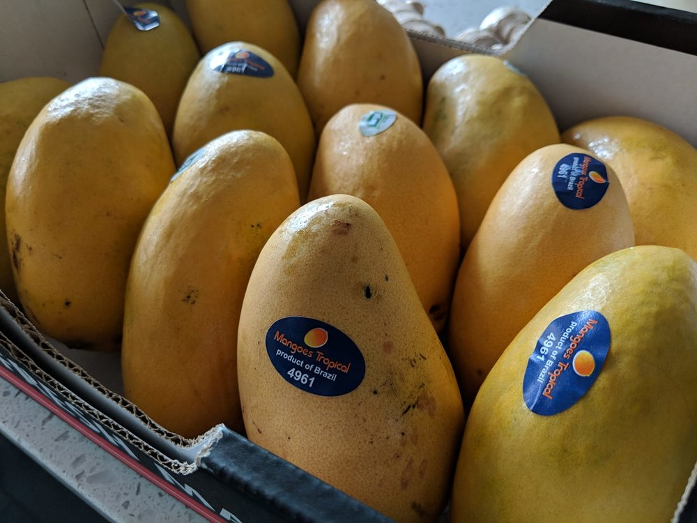 Sourcing mangos from our local supplier