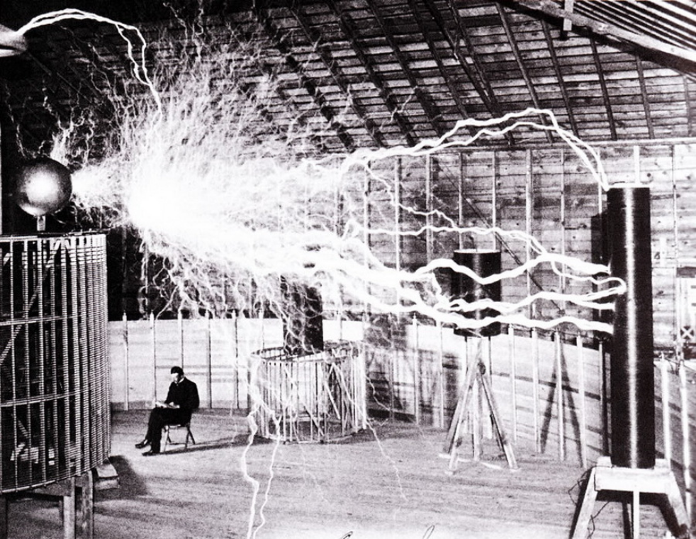 """Tesla's experiment proved that the Earth itself could be used to conduct electricity, no wires necessary."" -  Popular Science."