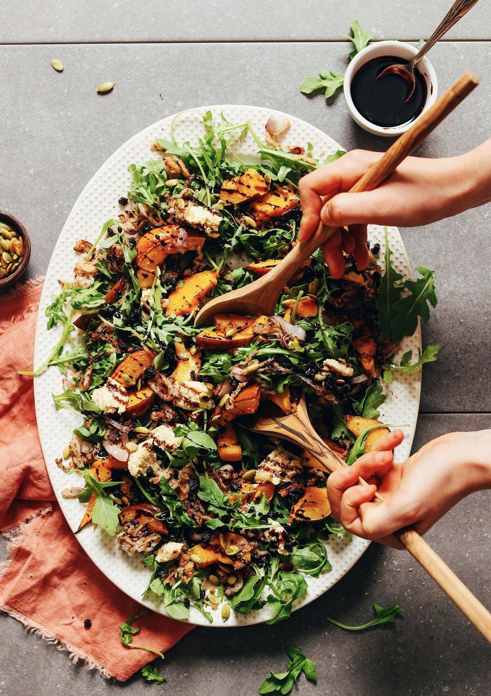 The Conscious Club Recipe - Roasted squash arugula