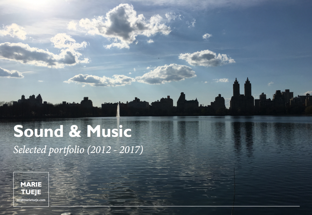 SOUND& MUSIC - Selected portfolio of sound art, radio art and installation and music projects.