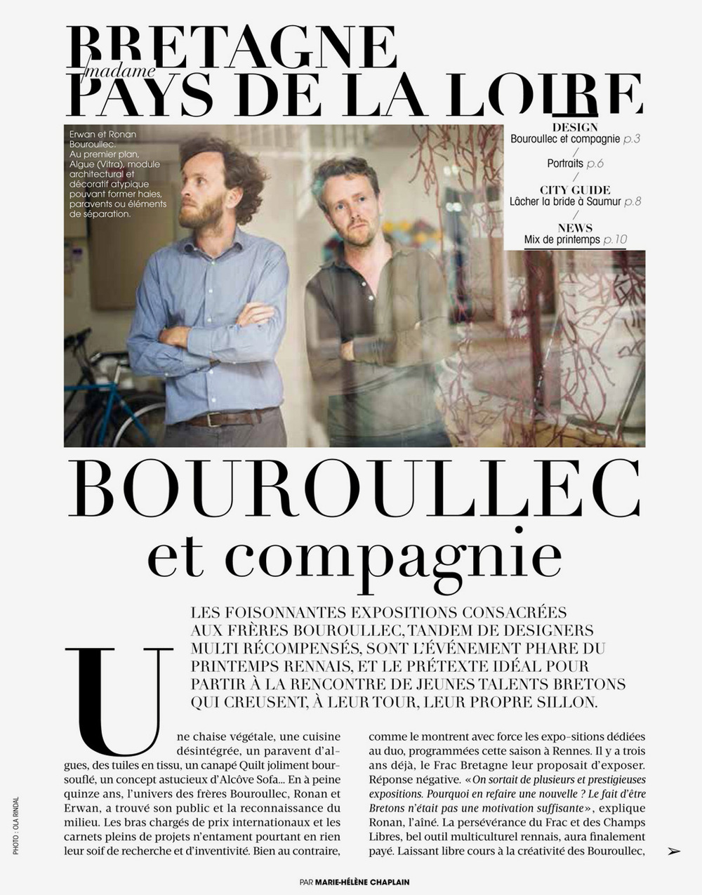 Madame Figaro Bretagne / France / 2016.04