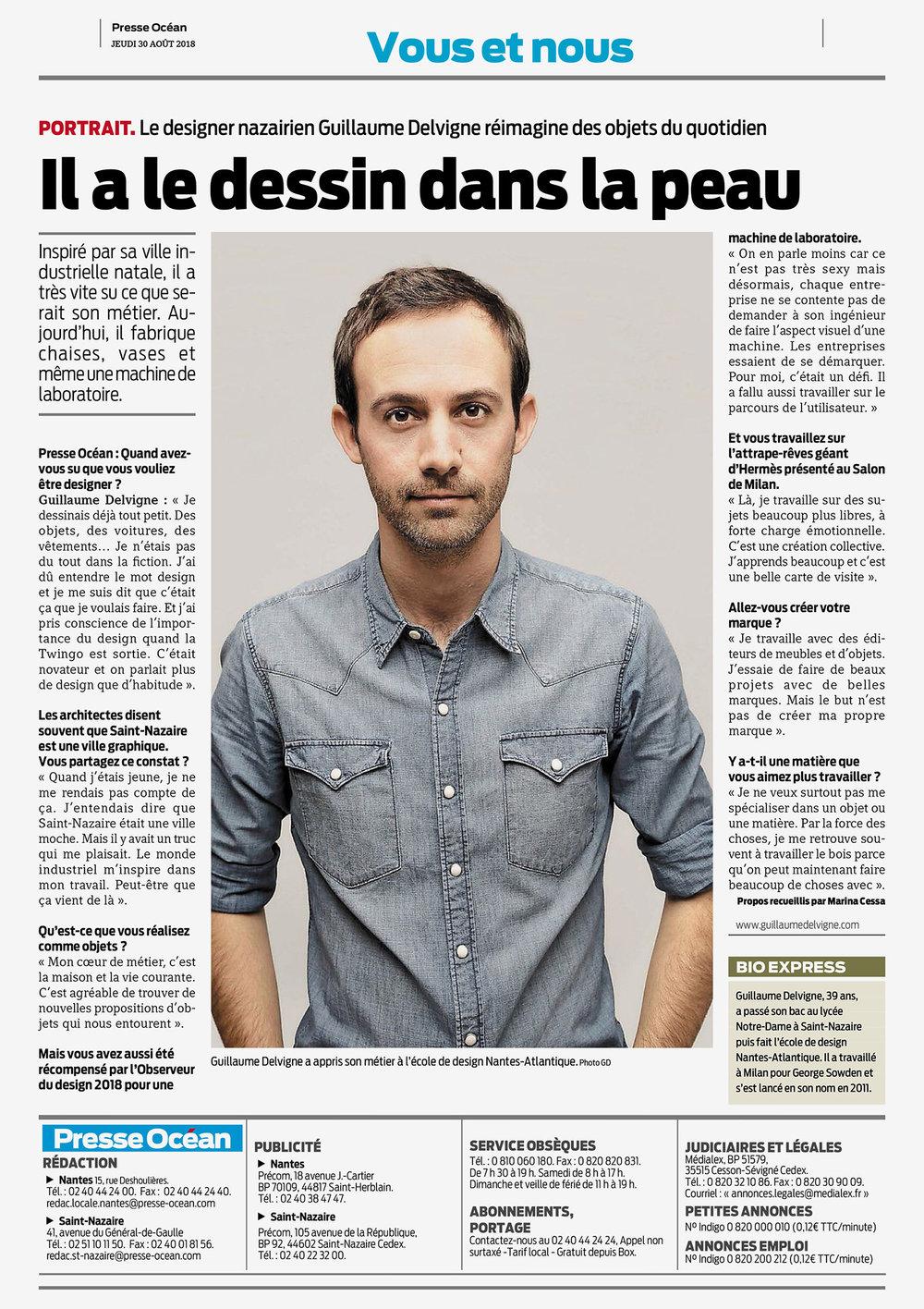 Presse Océan / France / 2018.08