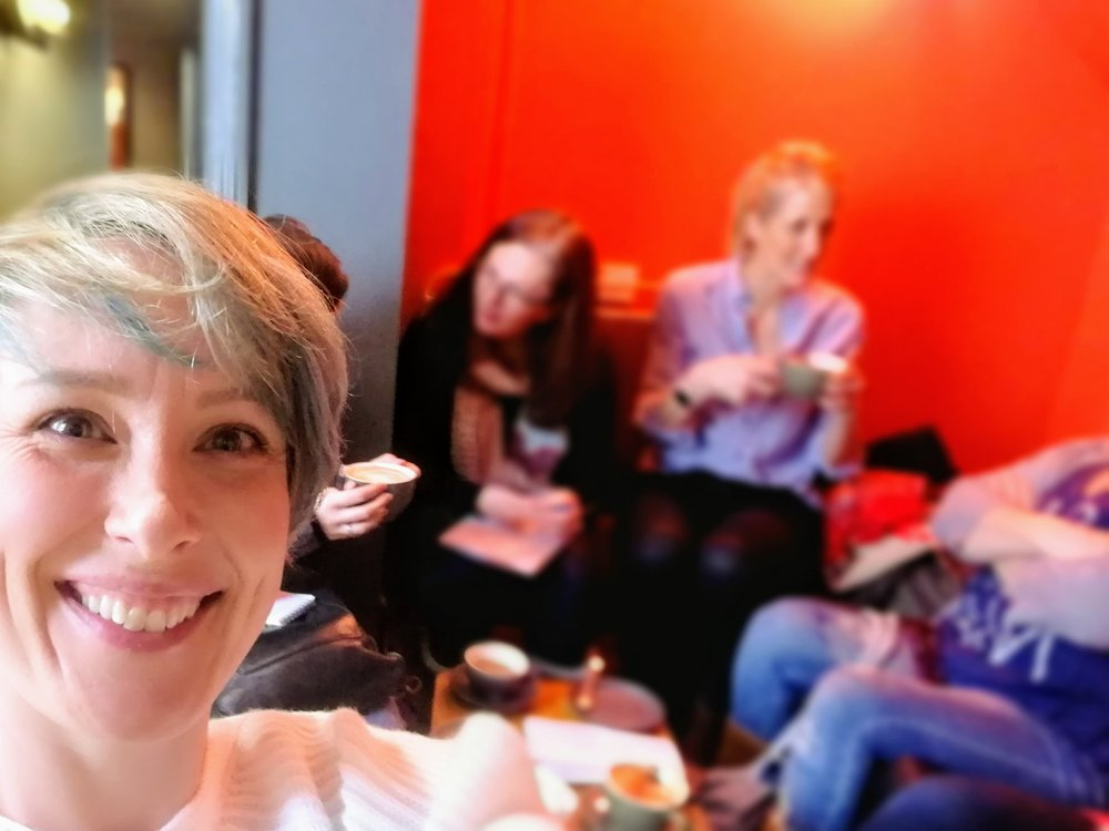 A cheeky selfie from the last 'Social Media and Slice of Cake' meet-up from 21st Feb.