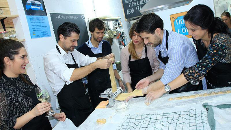 Fresh pasta making workshop with a full menu.