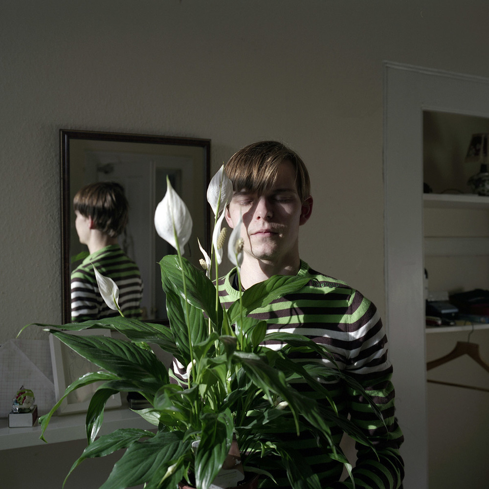 Ben with Japanese Peace Lily