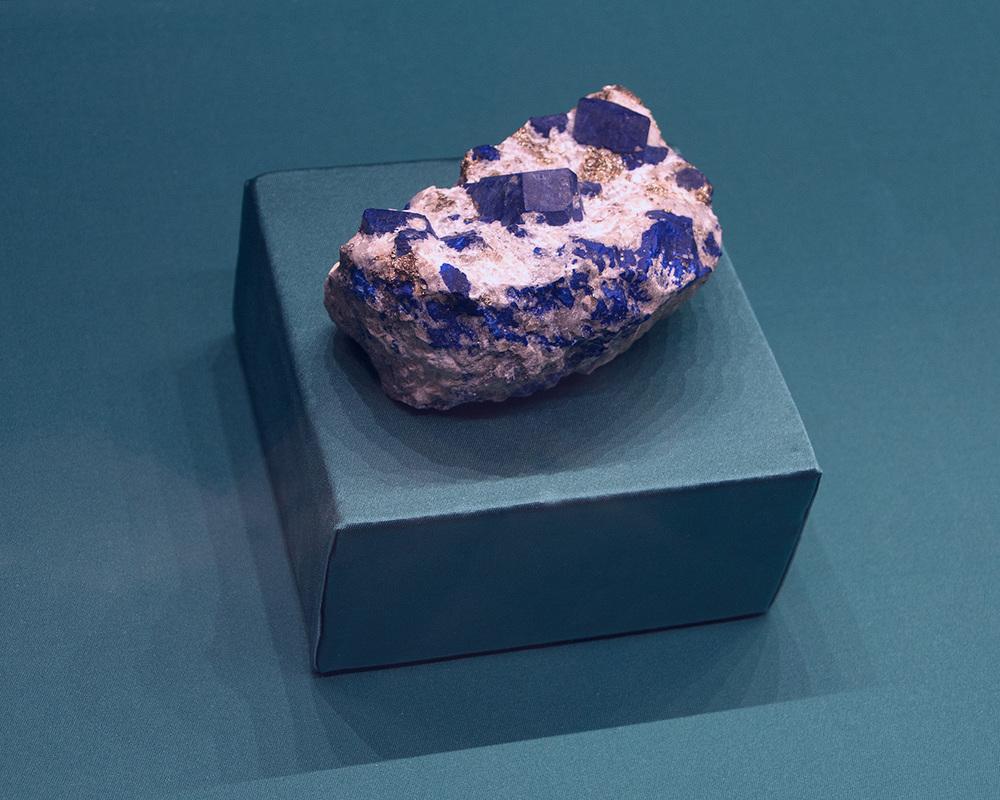 Lazurite display, Florence, Italy