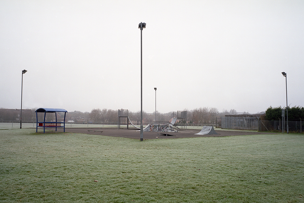 Skate park with frost, North Bristol
