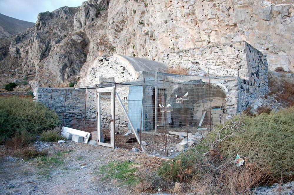 Pigeon and turkey coop, Santorini