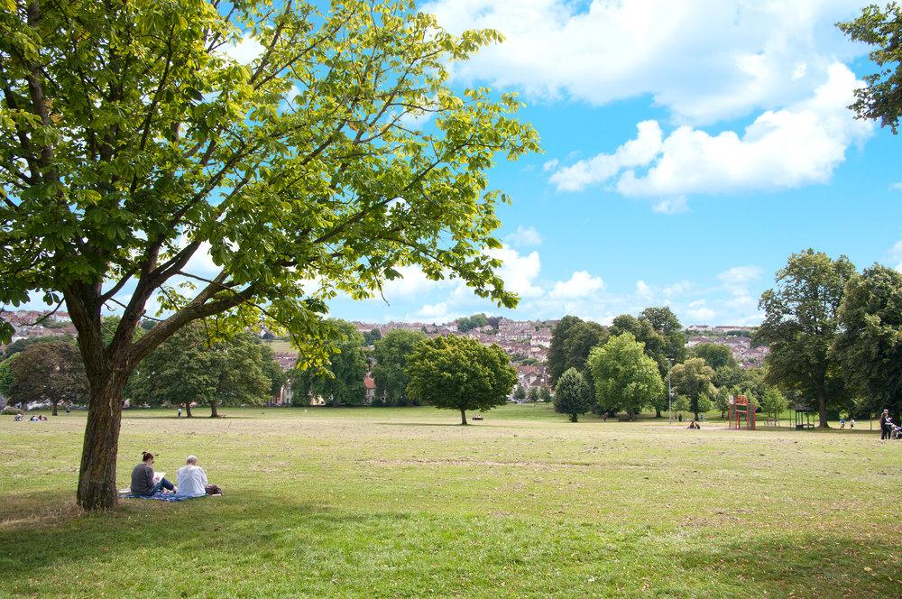 Summer's day in Victoria Park, Bristol.
