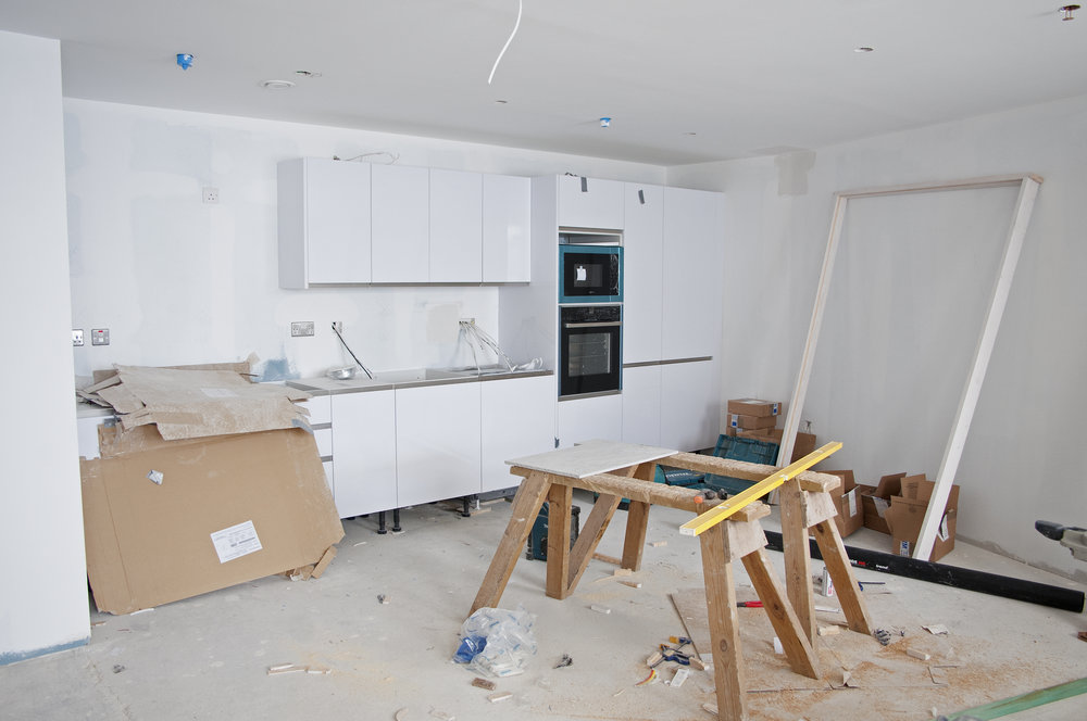 Property development progress shot, before