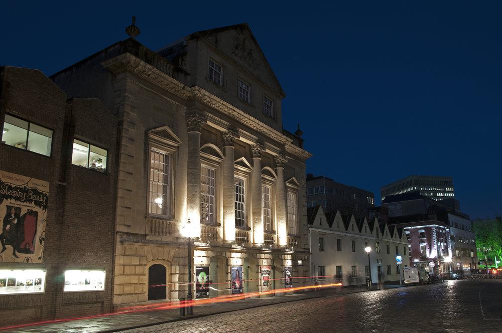 Bristol Old Vic at night, 2015.