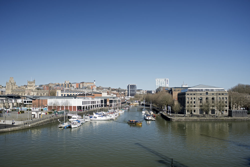 View over Floating Harbour and Arnolfini
