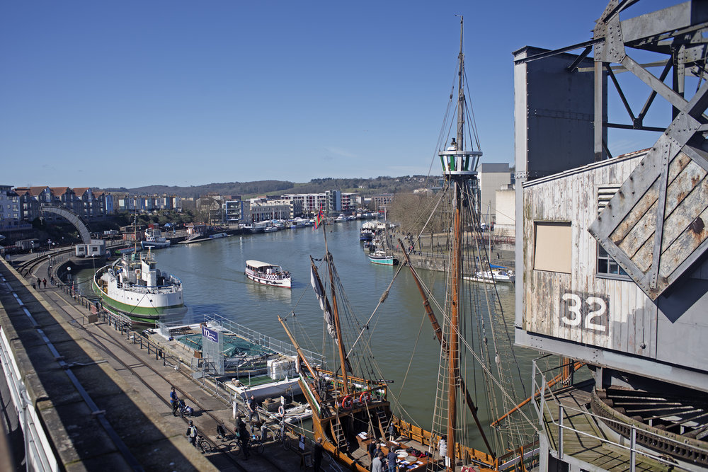 View over the Floating Harbour from Mshed, Bristol