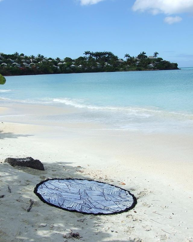 All that's missing is a Pina Colada and we are in heaven 👼 #Barbados #paradise #roundie #round #roundtowel #beachfordays #lazydays #caribbean #vacation #holidays #sunshine #palmtrees