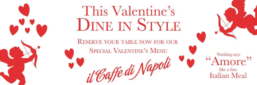 Italian Restaurant | Dublin City | Valentine's Day Menu