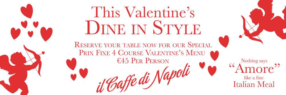 Italian Restaurant | Dublin City | Valentine's Day Menu