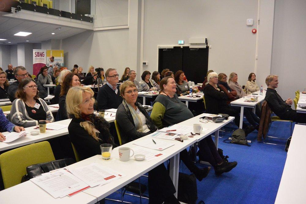 Glade konferansedeltakere