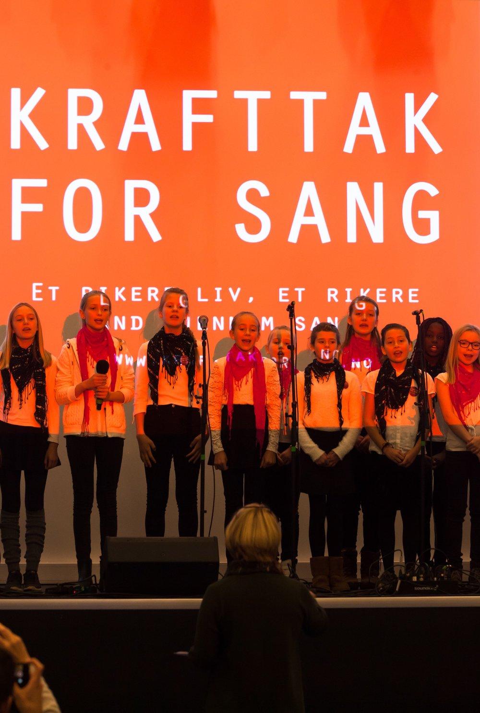 Sangambassadører fra Bjørnemyr skole