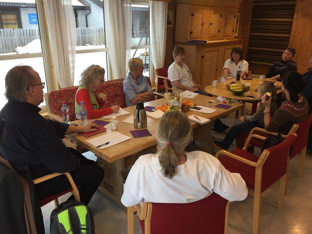 Møte med kjernegruppa, barnehagen og inspiratorene