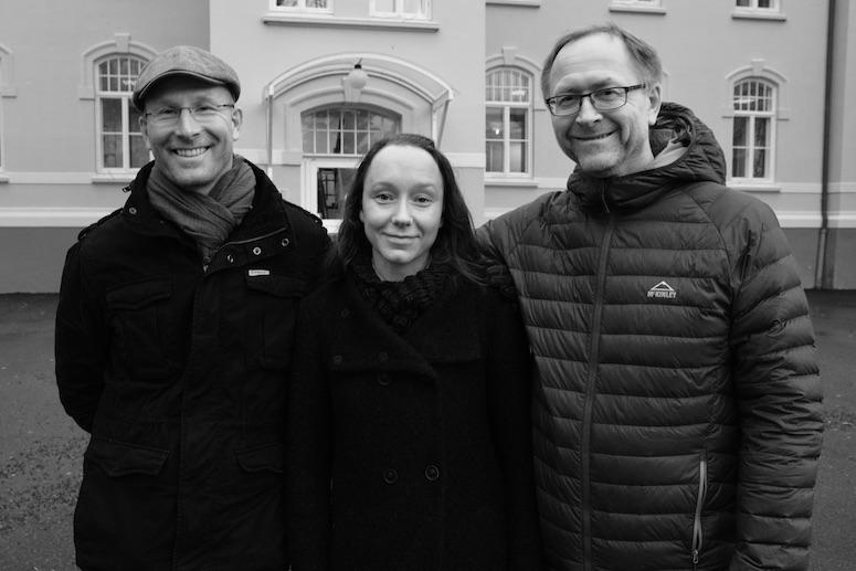 Ottar Bjerkeset, Anne Maria Dyrstad og Arve Almvik ved Nord universitet i Levanger er tre av forskerne bak fokusgruppestudien. Felleskapet og trygge rammer er stikkordene for et positivt resultat. Foto:Bjørnar Leknes /Nord universitet.