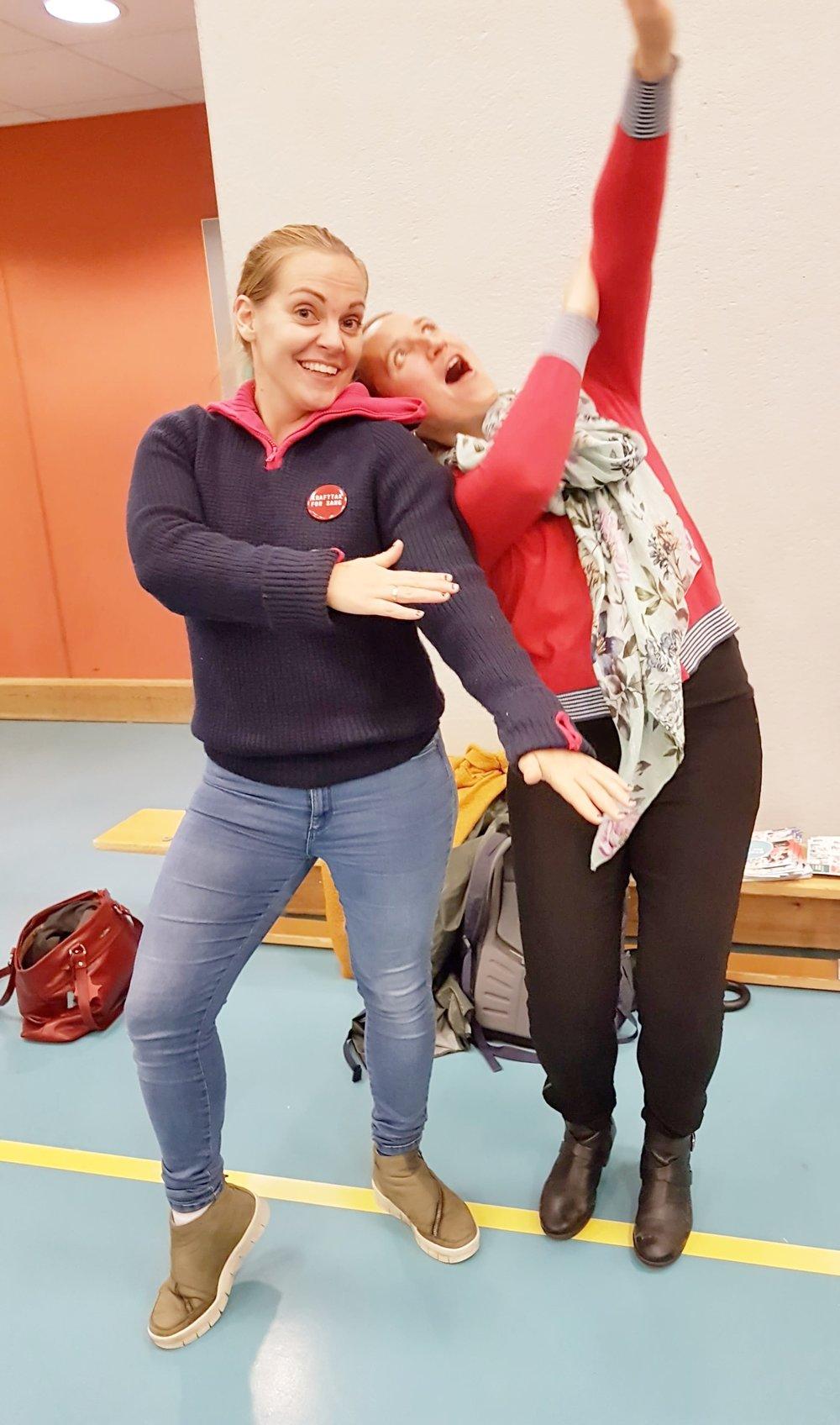 Margrethe Moss-Iversen Lundegård og Ann-Kristin Nordal-Seljestokken
